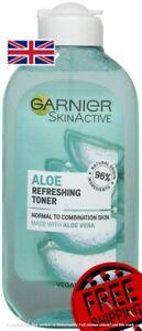 Garnier Refreshing Aloe Extract Toner Normal Skin 200 ml Free UK Shipping