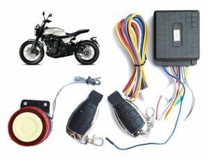 PDR*Antifurto allarme moto scooter universale sicurezza sirena 125dB telecomando