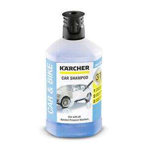 KARCHER 3-IN-1 Car Shampoo 1 Litre RM 610 VAN CARAVAN MOTORBIKE WASH 6.295-750.0