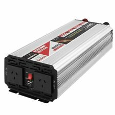 Giantz Pure Sine Wave 2000/4000W AC/DC Power Inverter for Car, Camping Boat - Silver