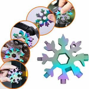 18 In 1 Multifunktionswerkzeug Schneeflocke Schraubendreher Schlüssel Edelstahl