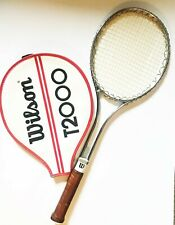New listing Vintage Wilson T2000 Tennis Racket 4 1/4 L W/Cover Jimmy Connors 1970's NICE!!