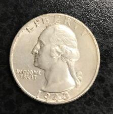 1943 Washington Quarter Dollar Au C-1103