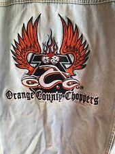 Orange County Choppers Mens Denim Jean Jacket - Motorcycle/Biker - Size XL