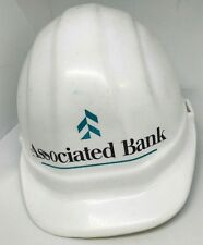 associated bank white construction hard hat omega II adjustable 6.5-8 9be17eb37021