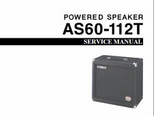 YAMAHA AS60-112T POWERED SPEAKER SERVICE MANUAL INC SCHEMATIC DIAGRAM IN ENGLISH