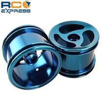GPM Racing Losi Mini-T Aluminum Blue Front 3 Spoke Swirl Wheels SMT0305F/L06