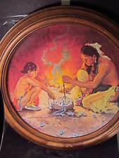 Gorham 1980 Turquoise Bead Maker AmericanIndian Couse Ltd Ed Plate Framed