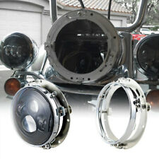 "7"" LED Headlight Round Mounting Ring Bracket For Jeep Wrangler JK CJ TJ Harley"