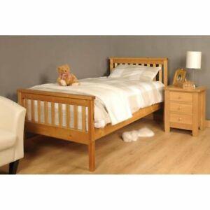Brambly Cottage Alphonse Bed Frame Single - Caramel