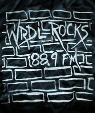 vtg 80s Radio Station Satin Jacket Nylon Ashland University Wrdl Rocks 88.9 Fm