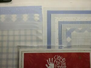 """PATTERNED """"BLUE"""" SHADE Close To My Heart 53 pc 12x12 1-SIDED Paper/Scrapbooking"""