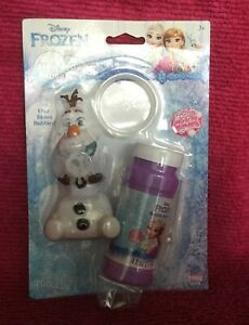 Disney Frozen Dip And Blow Bubbles Olaf Blows Bubbles New In Package