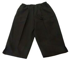 Blair Womens Size Large Black Polyester Elastic Waist Capri Pants NWOT