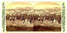 Watkins NY -BIRDSEYE VIEW TO SENECA LAKE- Charles Bierstadt Stereoview