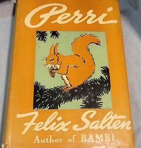 Vintage 1938 Children's Book PERRI by Felix Salten Bambi Author