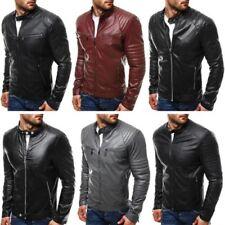 Jacken im Bikerjacken-Stil aus Lederimitat