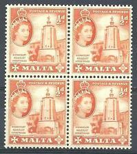Malta 1956 Sc# 247 Wignacourt Aqueduct for horse block 4 MNH