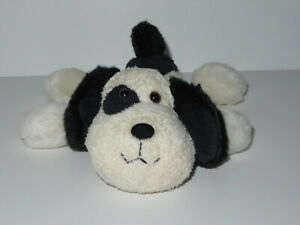 "Russ Berrie Luv Pets Chomper Plush Puppy Dog Stuffed Bean Bag White Black 6"" Toy"