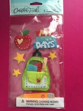 School Days Felt Backpack Creative Touch Stickers Scrapbooking Crafts