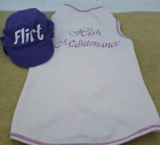 New listing White and Purple Dog T-Shirt and Hat