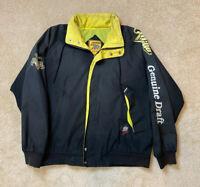 Vintage Miller Genuine Draft Jacket 90's  Black Full Zip Men's Size XL
