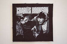"Charles Bronson Cloth Patch Sew On Badge Punk Rock Music Approx 4""X4"" (CP66)"