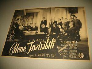 """ALIDA VALLI, ITALCINE FOTOBUSTA ORIGINALE ANTEGUERRA FILM """"CATENE INVISIBILI"""""""