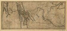 A4 Reprint of American Cities Towns States Map Lewis Clark Expedition