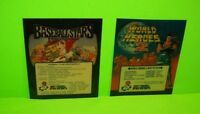 NEO GEO World Heroes 2 And BaseBall Stars Video Arcade Game Plastic Inserts SNK