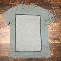 AllSaints Blanco SS Crew Gray size XS Short Sleeve Men's Shirt