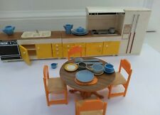 VINTAGE TOY TOMY DOLL HOUSE KITCHEN FURNITURES LOT super cool!