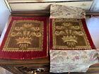 2 Old Interesting Carpet Runner Pieces Scraps Crafting