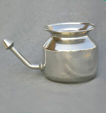 Neti Pot -Stainless Steel with Instruction DVD Natural Relief from Colds & Sinus