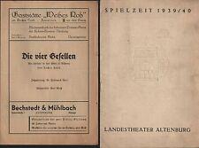 ALTENBURG, Landestheater-Programm Spielzeit 1939/40
