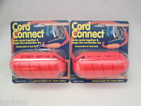 (2) NEW Farm Innovators Cord Connect Water Tight Connection USA CC1 Orange