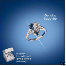 Sterling Silver Genuine Sapphire Ring-Size 6-September