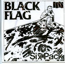 """BLACK FLAG 'Six Pack 7"""" minor threat rollins band SST bad brains husker du PUNK"""