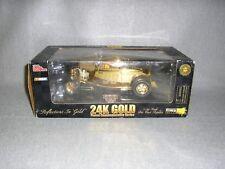 1932 Ford Coupe Stock Rods 24k Gold Nascar 99 Jeff Burton's Exide 1:24 Model Car