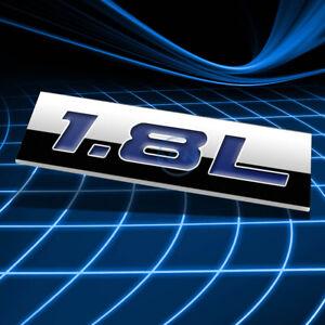 METAL 3D EMBLEM DECAL LOGO TRIM BADGE STICKER POLISHED CHROME BLUE 1.8L 1.8 L