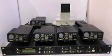 Telex RadioCom BTR-800 UHF Wireless Base Station W/ 5 TR-800 Beltpacks & Charger