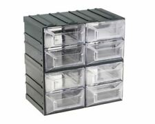 More details for interlocking plastic small drawer storage cabinet 8 drawers store small parts uk