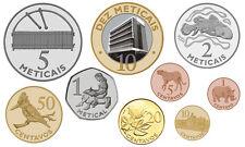 MOZAMBIQUE 9 COINS SET 1, 5, 10, 20, 50 CENTAVOS + 1, 2, 5, 10 METICAIS UNC 2006