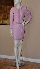 VALENTINO Boutique Luxury Skirt Suit Embellished w/Beads Size 8