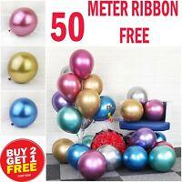 "12"" Metallic Pearl Chrome Latex Balloons for Wedding Birthday Party 10-100PCS"