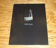 Original 1989 Mercedes-Benz S Class Deluxe Sales Brochure 89