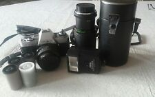 Vintage Lot! Minolata camera X370 Lenses Focal 80- Accessories Flash & camera ca