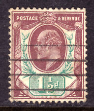 GREAT BRITAIN #129 1½p VIOLET & GREEN, 1902 KEVII, VF, USED