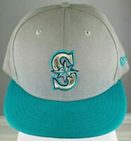 NEW ERA MLB SEATTLE MARINERS MENS HAT FITTED SIZE 7 3/8TH L/XL EMBROIDERED USED