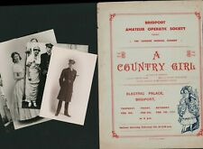 More details for bridport amateur operatic society 1931  'a country girl' + photos pc  e3.284